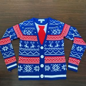 Jolly sweaters Christmas sweater/cadigan small